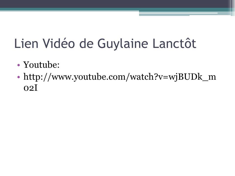 Lien Vidéo de Guylaine Lanctôt
