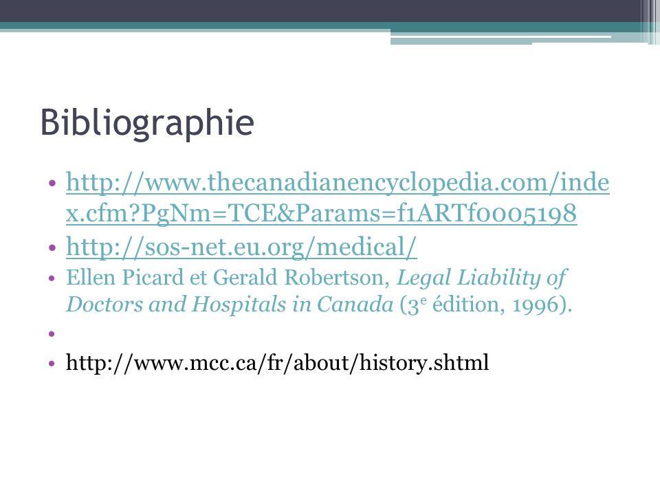 Bibliographie http://www.thecanadianencyclopedia.com/inde x.cfm PgNm=TCE&Params=f1ARTf0005198. http://sos-net.eu.org/medical/