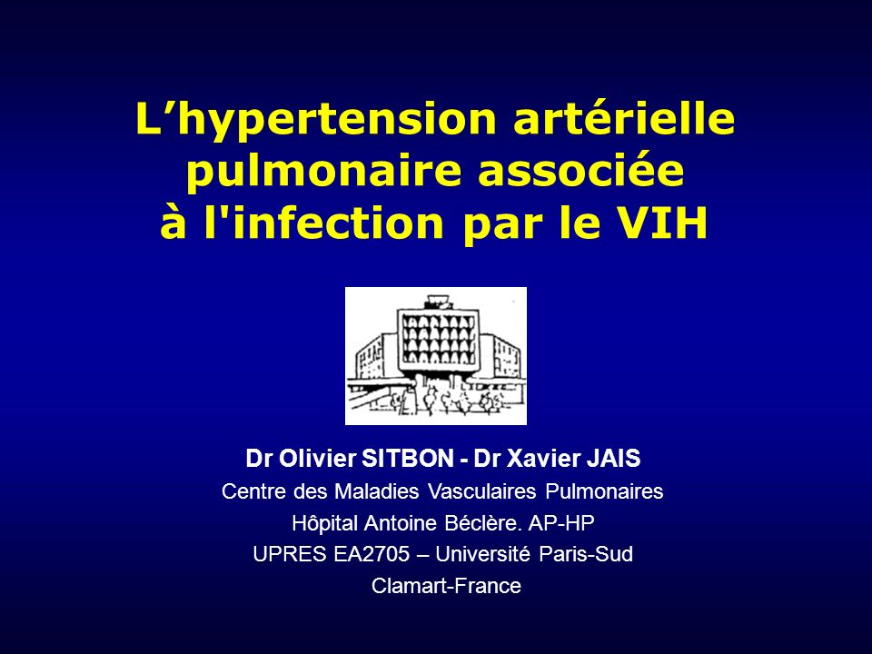 L'hypertension artérielle pulmonaire associée à l infection par le VIH