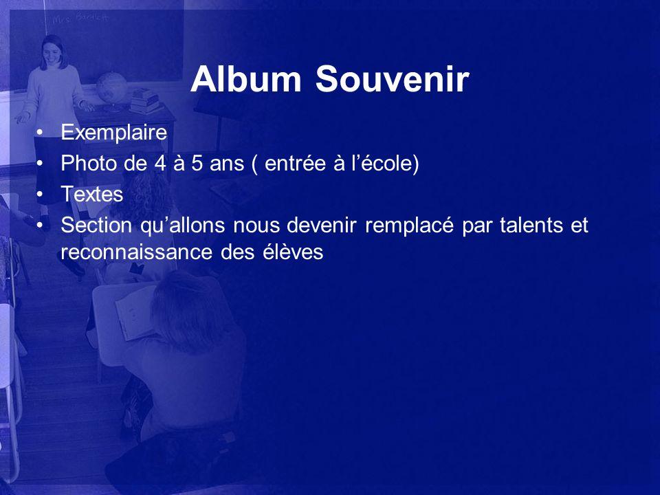 Album Souvenir Exemplaire Photo de 4 à 5 ans ( entrée à l'école)