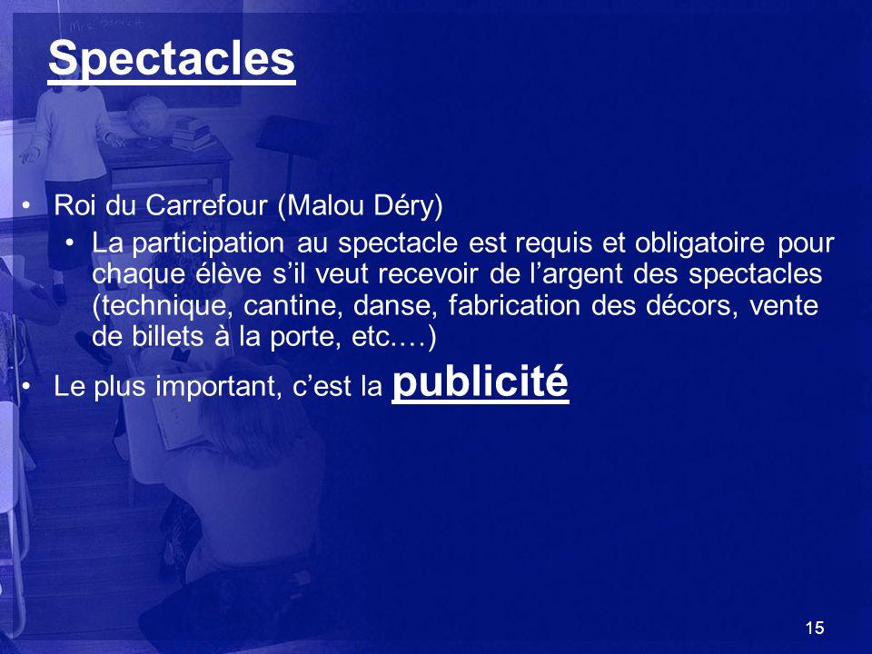 Spectacles Roi du Carrefour (Malou Déry)