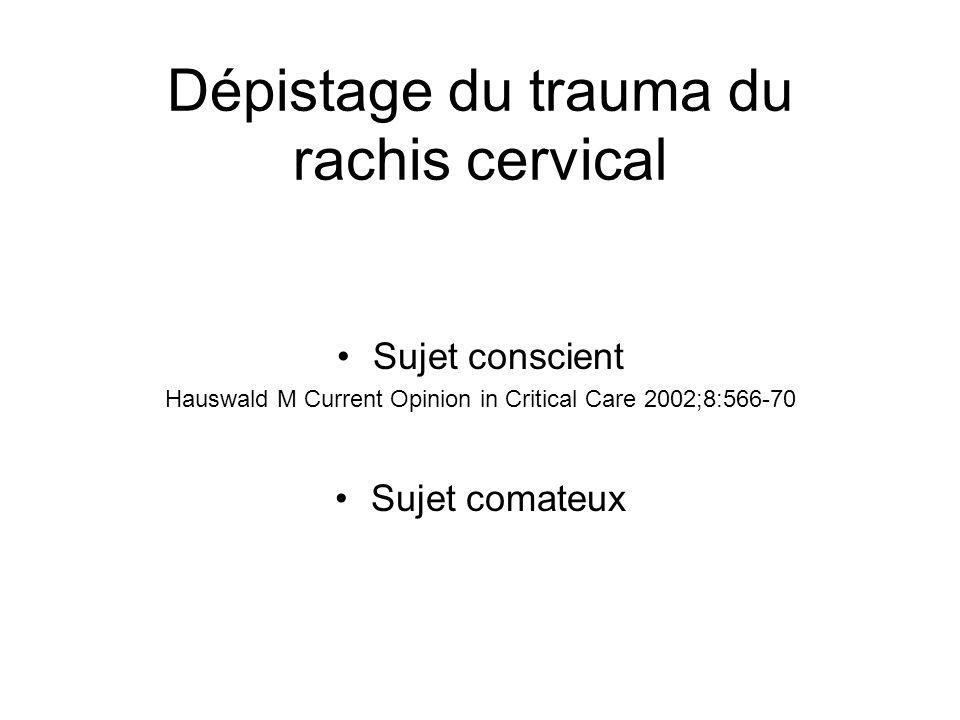 Dépistage du trauma du rachis cervical