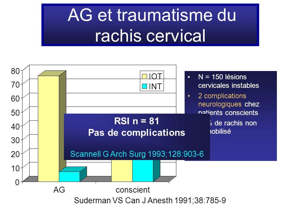 AG et traumatisme du rachis cervical