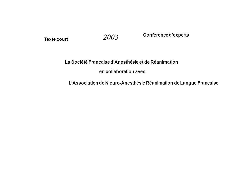 2003 Conférence d'experts Texte court