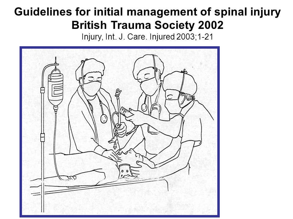 Guidelines for initial management of spinal injury