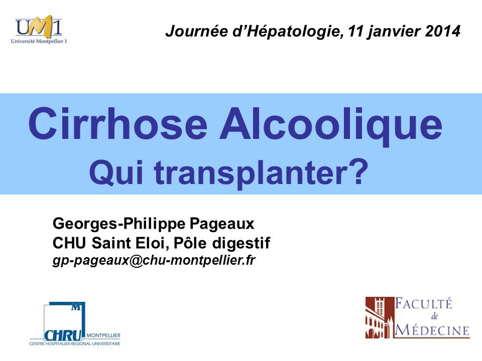 Qui transplanter Journée d'Hépatologie, 11 janvier 2014