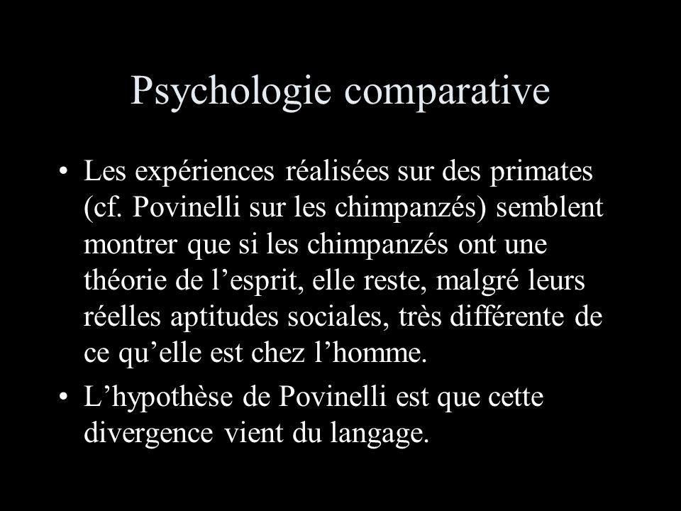 Psychologie comparative