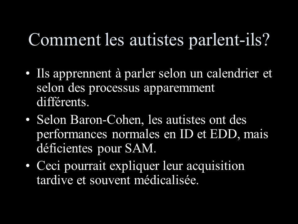 Comment les autistes parlent-ils