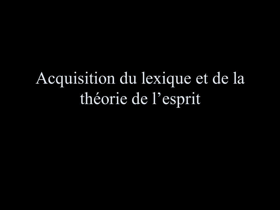 Acquisition du lexique et de la théorie de l'esprit