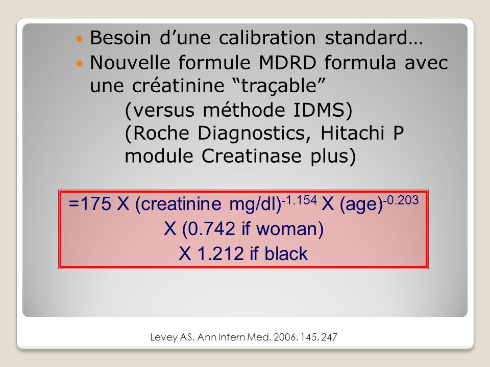 =175 X (creatinine mg/dl)-1.154 X (age)-0.203