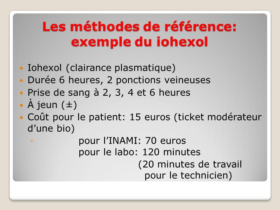 Les méthodes de référence: exemple du iohexol