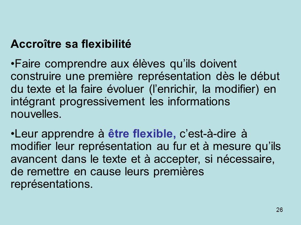 Accroître sa flexibilité