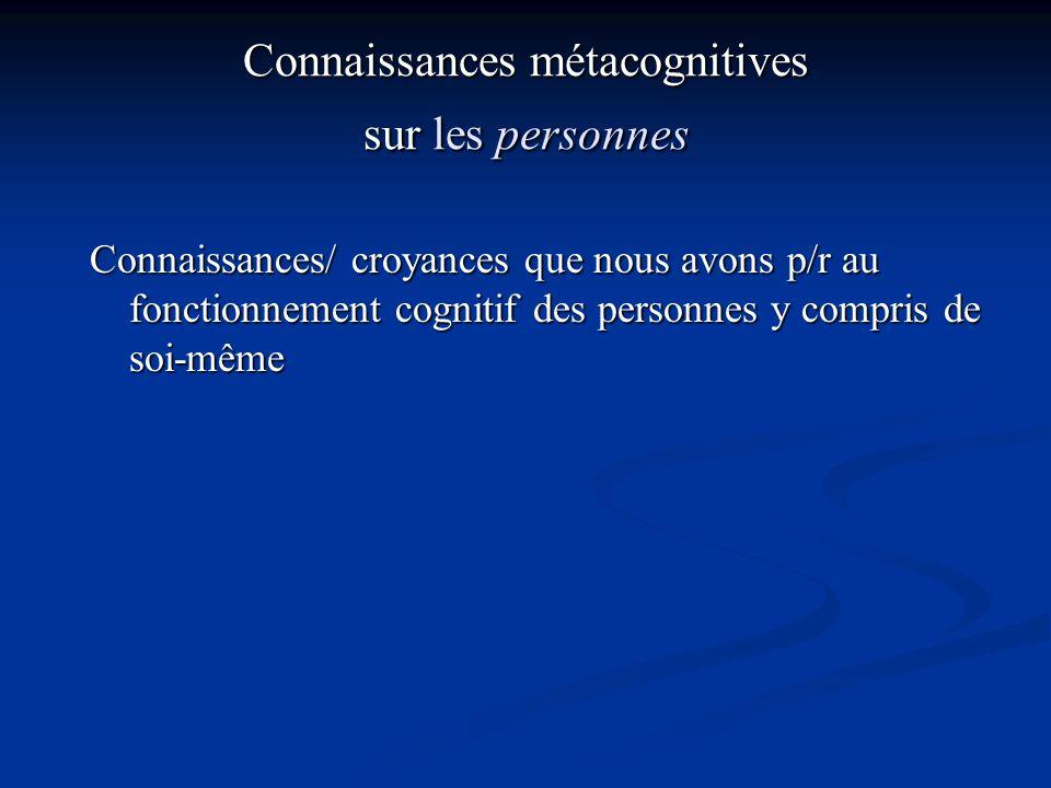 Connaissances métacognitives sur les personnes