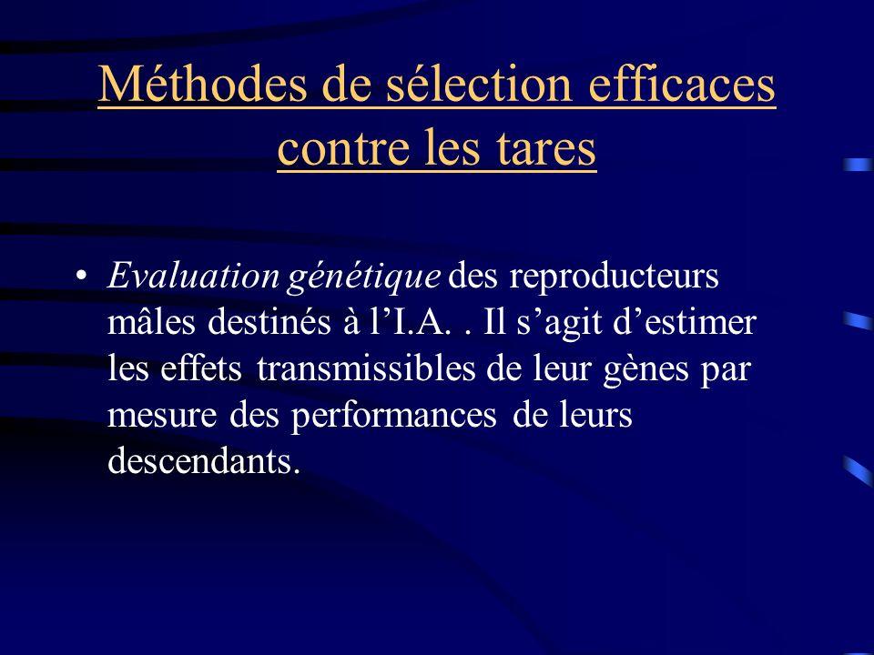Méthodes de sélection efficaces contre les tares