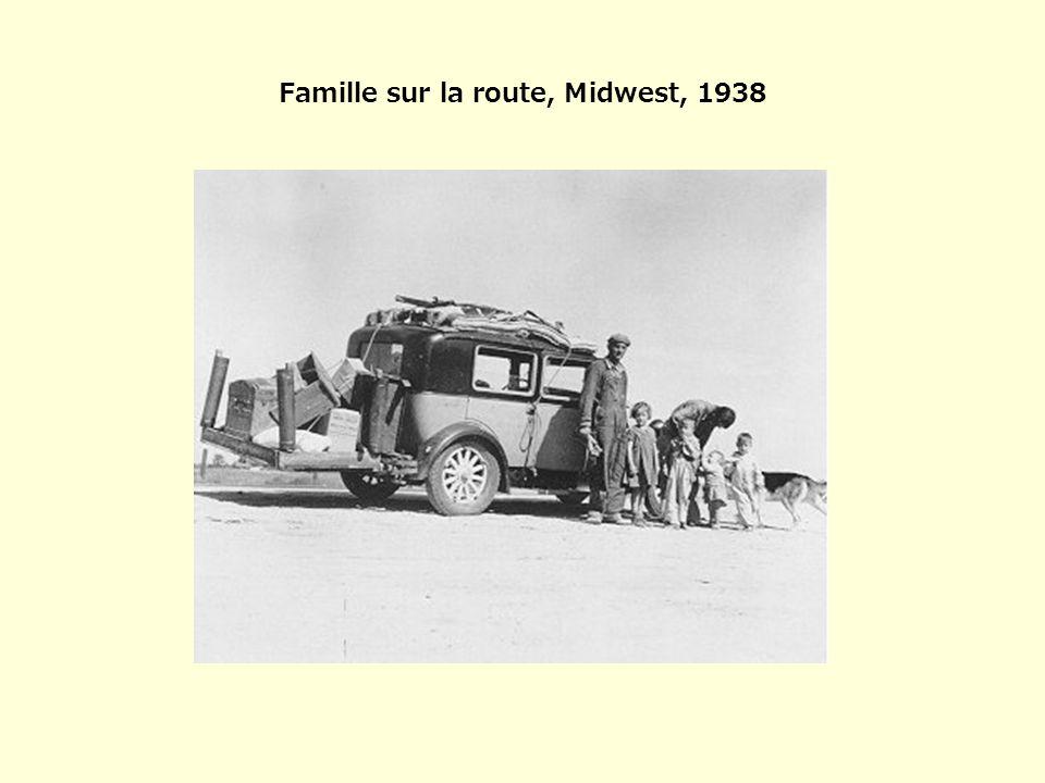 Famille sur la route, Midwest, 1938