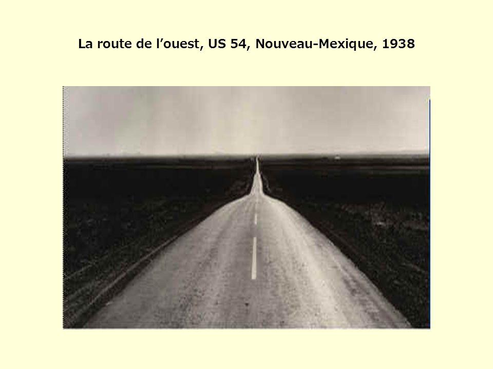 La route de l'ouest, US 54, Nouveau-Mexique, 1938