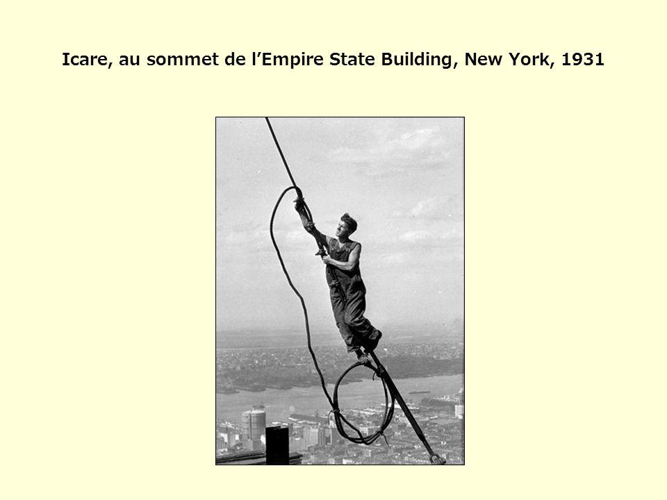 Icare, au sommet de l'Empire State Building, New York, 1931