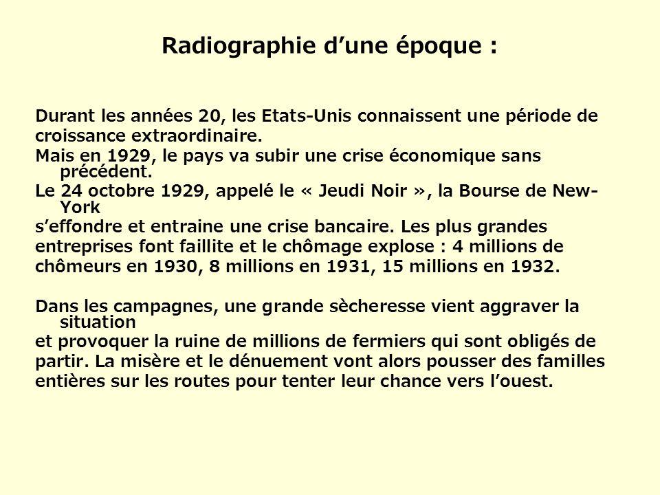 Radiographie d'une époque :