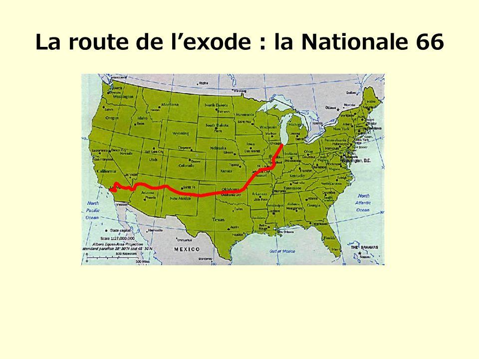 La route de l'exode : la Nationale 66