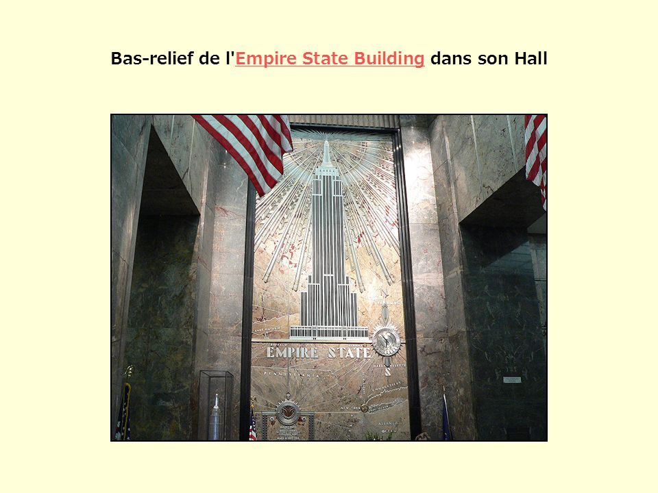 Bas-relief de l Empire State Building dans son Hall