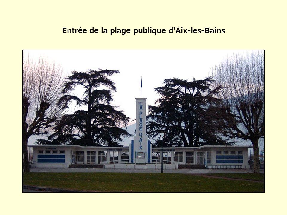 Entrée de la plage publique d'Aix-les-Bains