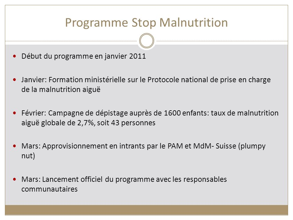 Programme Stop Malnutrition
