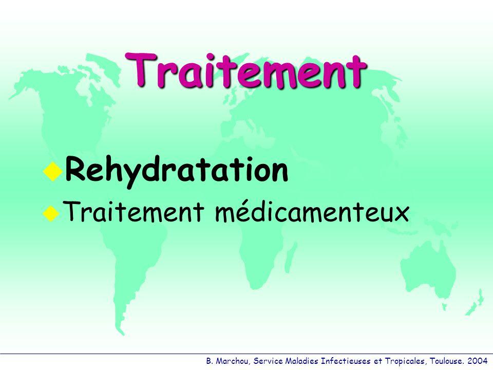 Traitement Rehydratation Traitement médicamenteux