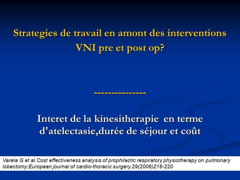Strategies de travail en amont des interventions