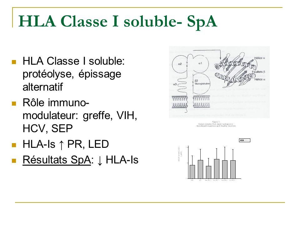 HLA Classe I soluble- SpA