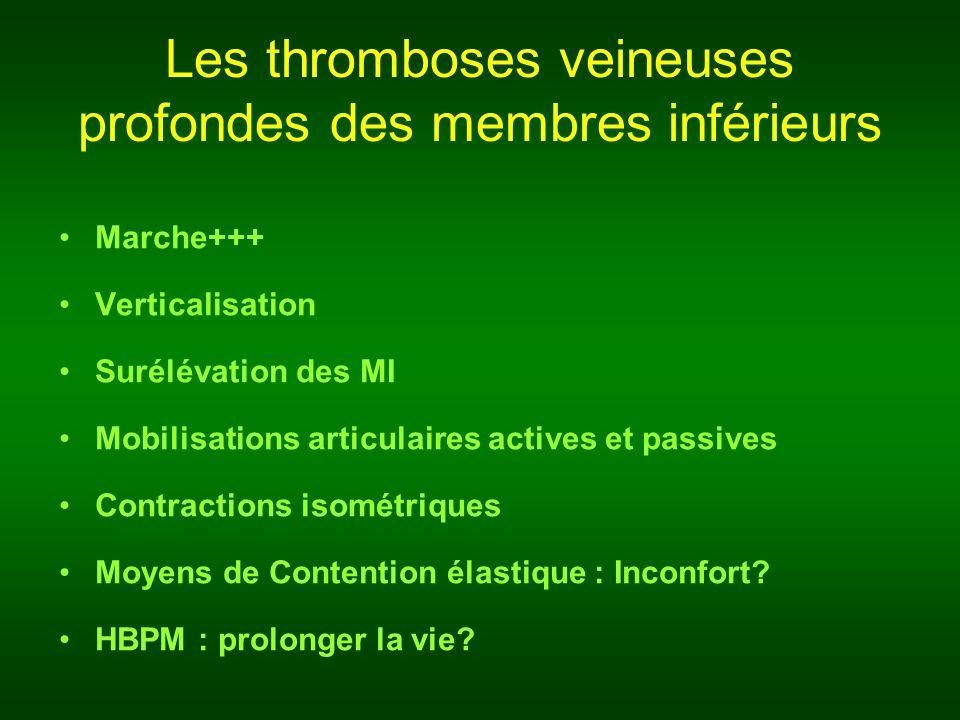 Les thromboses veineuses profondes des membres inférieurs
