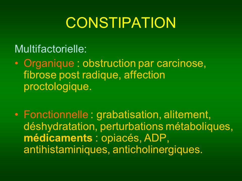 CONSTIPATION Multifactorielle: