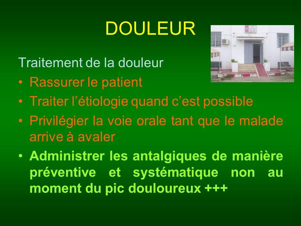 DOULEUR Traitement de la douleur Rassurer le patient