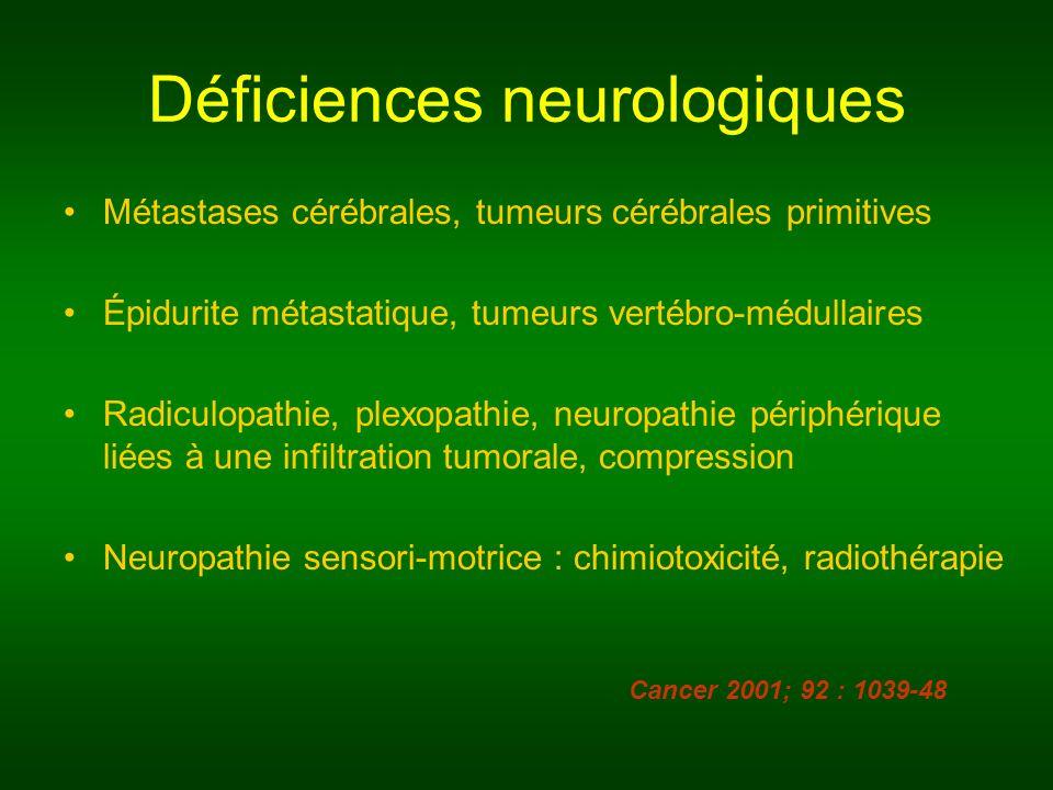 Déficiences neurologiques
