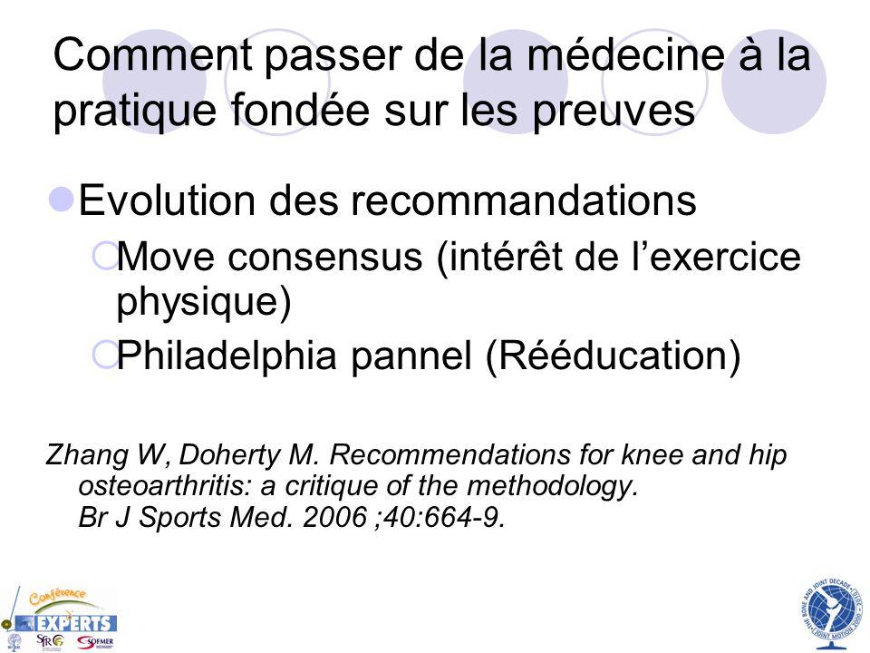 Comment passer de la médecine à la pratique fondée sur les preuves