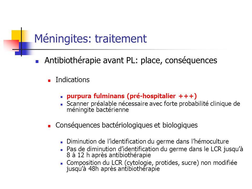 Méningites: traitement