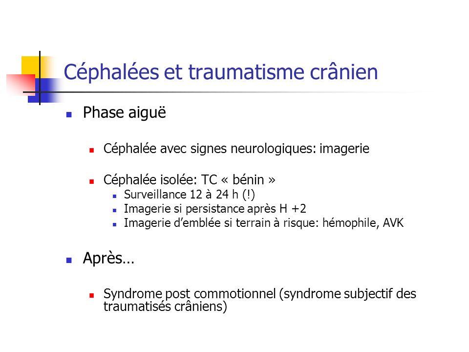 Céphalées et traumatisme crânien