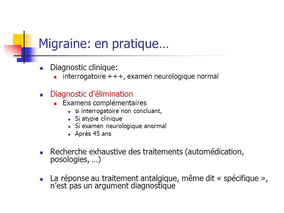 Migraine: en pratique…