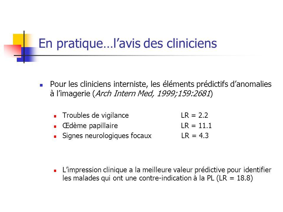 En pratique…l'avis des cliniciens