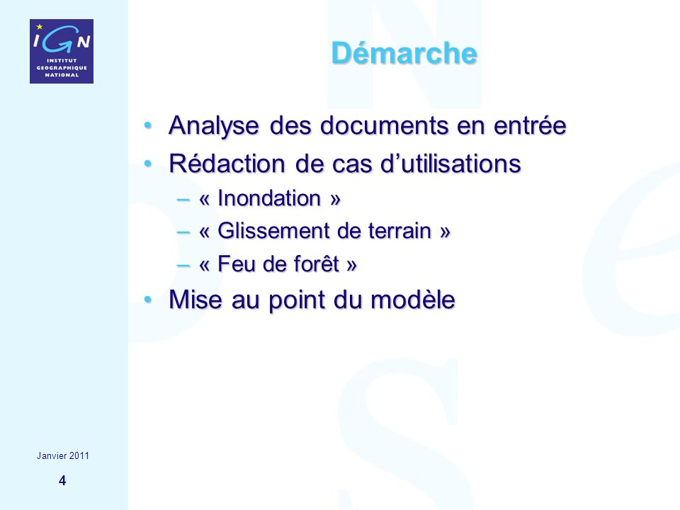 Démarche Analyse des documents en entrée