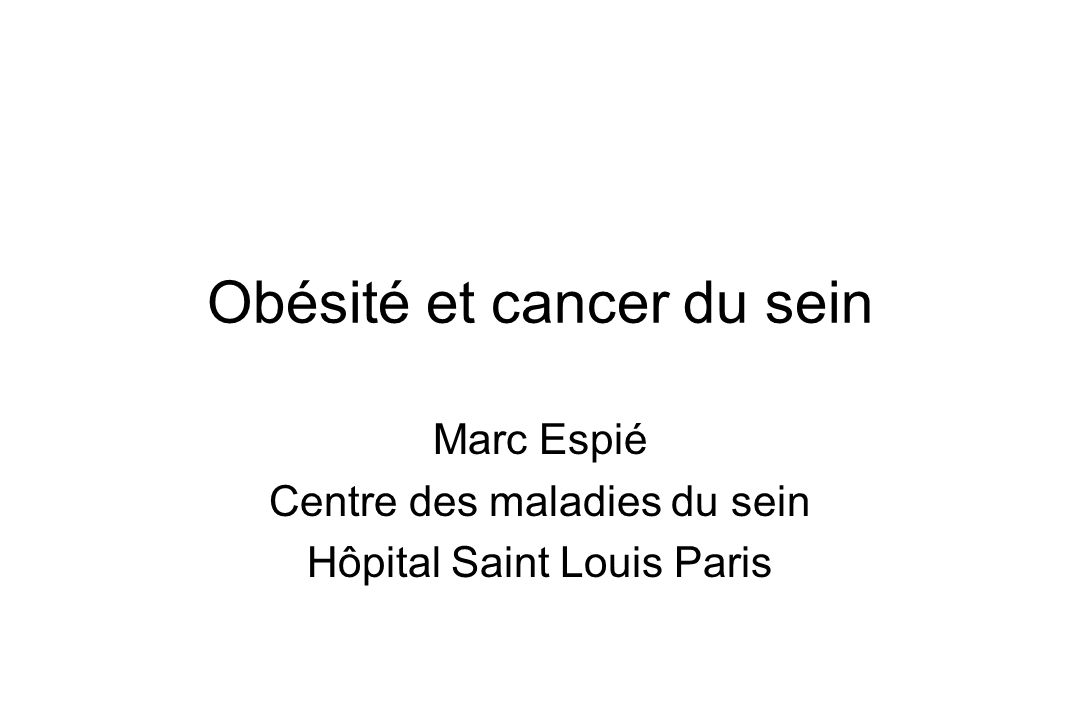 Obésité et cancer du sein
