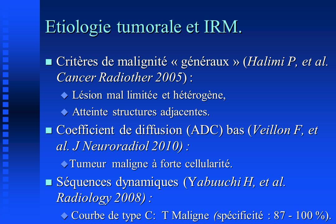 Etiologie tumorale et IRM.