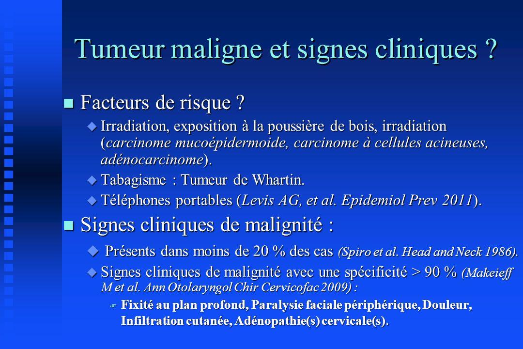 Tumeur maligne et signes cliniques