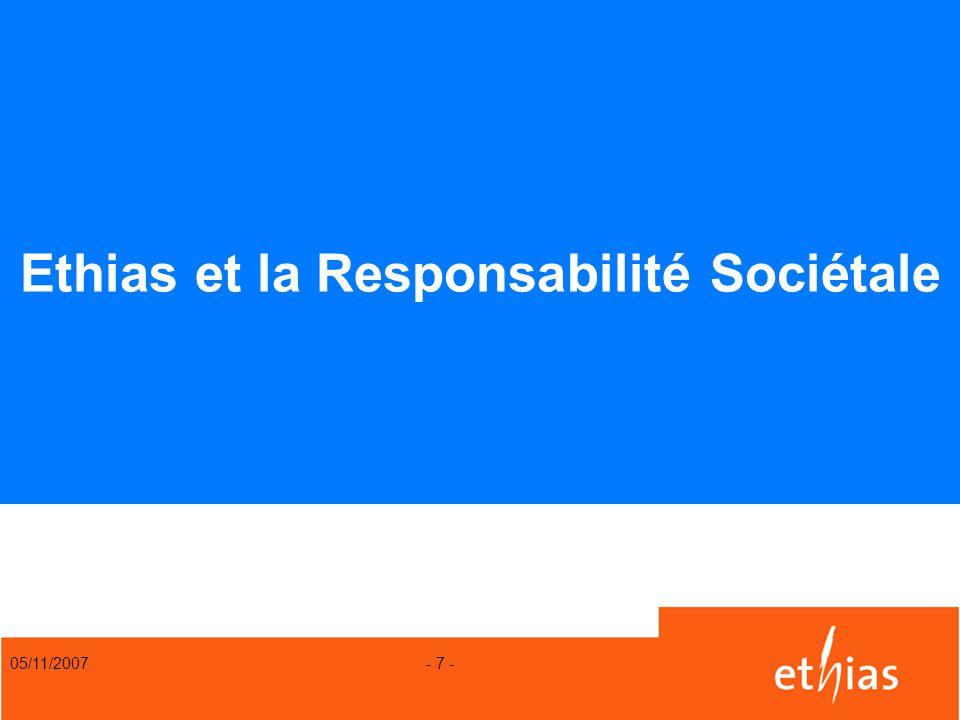 Ethias et la Responsabilité Sociétale