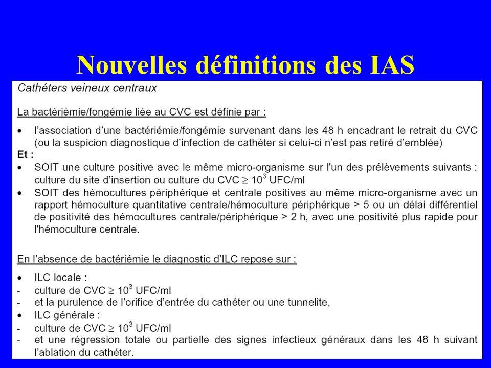 Nouvelles définitions des IAS