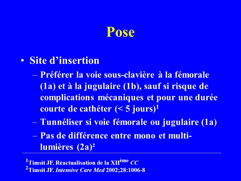 Pose Site d'insertion.