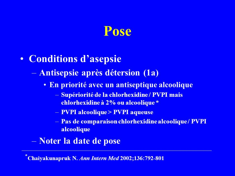 Pose Conditions d'asepsie Antisepsie après détersion (1a)
