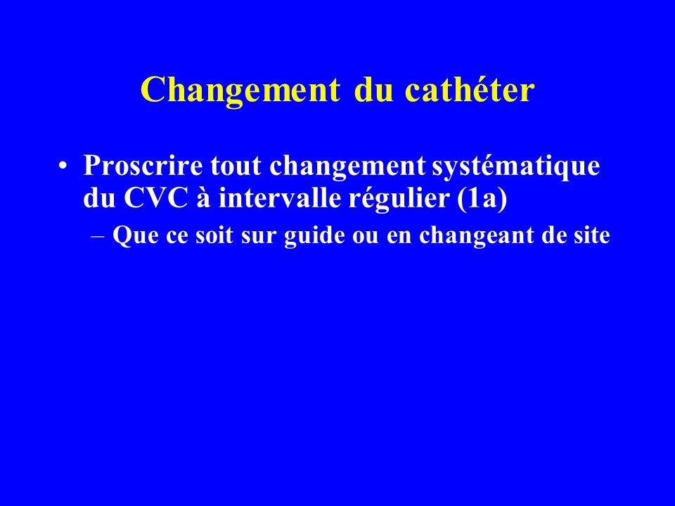 Changement du cathéter