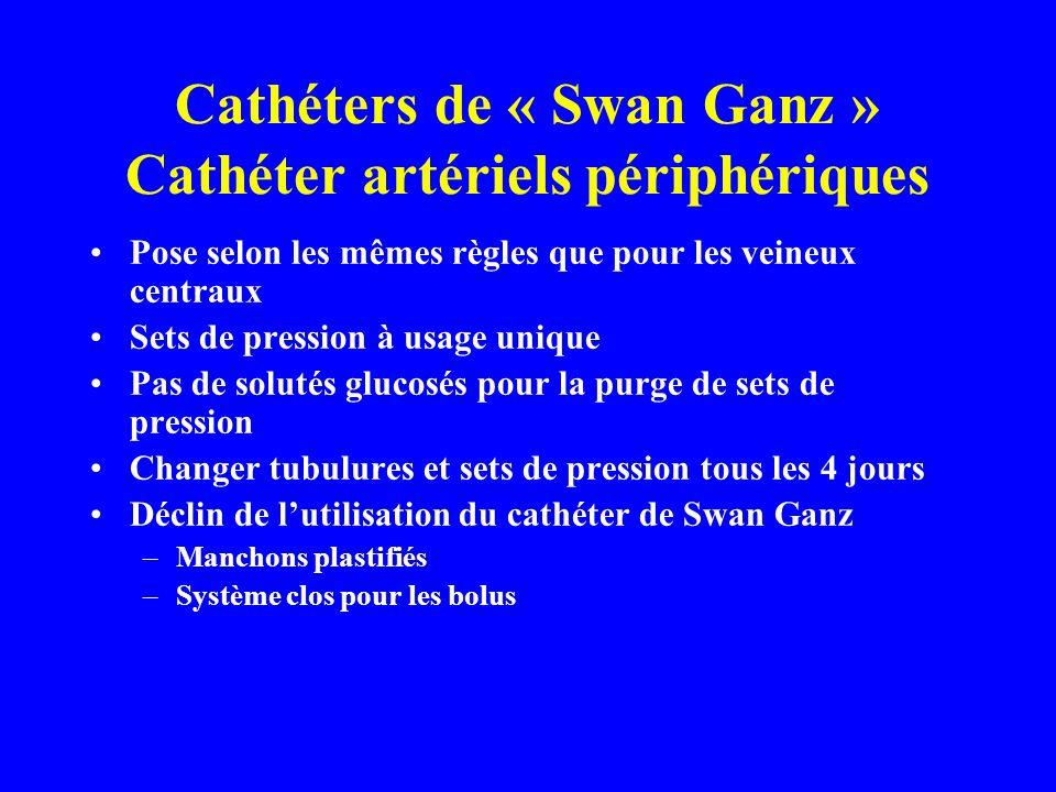 Cathéters de « Swan Ganz » Cathéter artériels périphériques