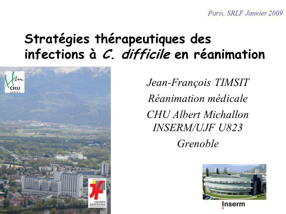 Stratégies thérapeutiques des infections à C. difficile en réanimation