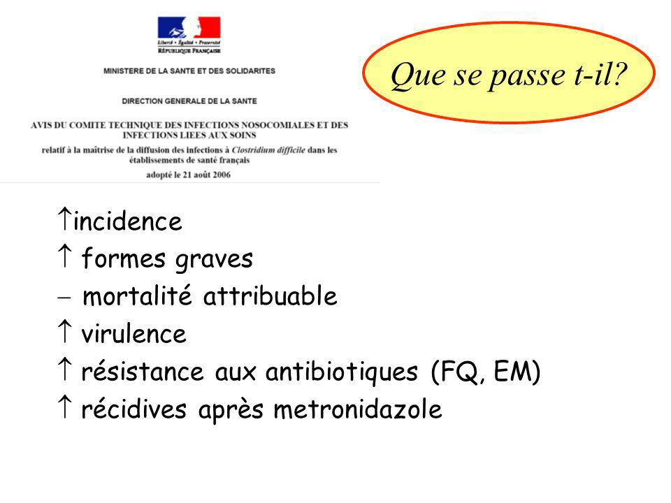 Que se passe t-il incidence  formes graves mortalité attribuable